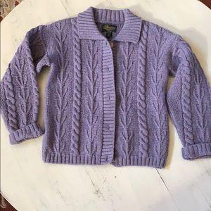 Beautiful pure new wool sweater made in Ireland